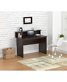 Inval America Writing Desk with Hutch