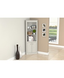 Inval America Two Door Corner Bookshelf