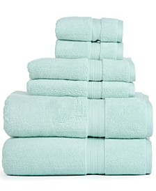 100% Zero Twist Cotton Oversized 6 Piece Towel Set