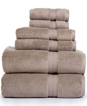 Image of Aerosoft 100% Zero Twist Cotton Oversized 6 Piece Towel Set Bedding