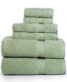 Aerosoft 100% Zero Twist Cotton Oversized 6 Piece Towel Set