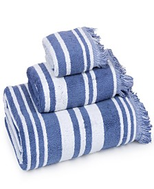 Casa Platino - Multi Stripe with fringe 100% Combed Cotton 3 Piece Towel Set