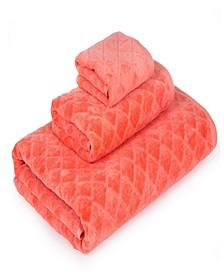 3D Diamond Fine Cotton Jacquard 3-Pc. Towel Set