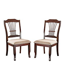 Lenon Brown Cherry Side Chair (Set of 2)