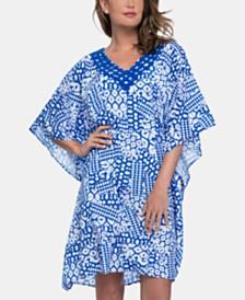Profile by Gottex Diamond Batik Printed Cover-Up