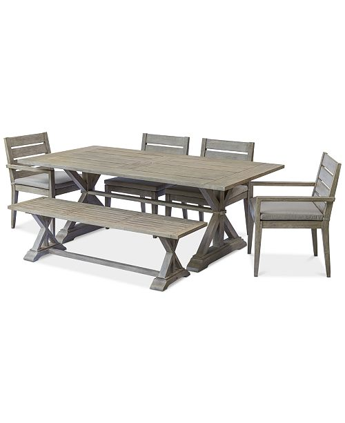 Awe Inspiring Furniture Hadley Outdoor 6 Pc Dining Set 84 X 42 Dining Alphanode Cool Chair Designs And Ideas Alphanodeonline