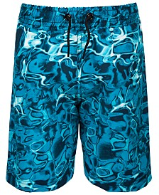 Ideology Little Boys Ocean-Print Swim Trunks, Created for Macy's