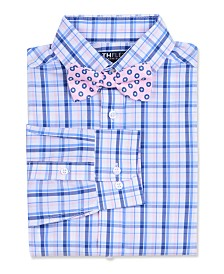 Tommy Hilfiger Big Boys Stretch Plaid Shirt & Dot Bow Tie