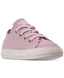 4020a8b13ebbc0 Converse Toddler Girls  Chuck Taylor All Star Low Top Frilly Thrills Casual  Sneakers