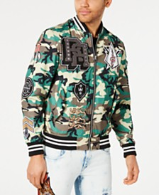 Reason Men's Districts Camouflage Varsity Jacket