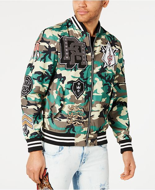 Reason Men's Districts Camouflage Varsity Jacket