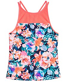 Big Girls Floral-Print Tankini Swim Top, Created for Macy's