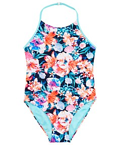 5298b5e6bda0 Ideology Big Girls 1-Pc. Floral-Print Swimsuit, Created for Macy's