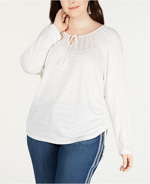 28a7ce84daa530 ... Style   Co Plus Size Tie-Neck Top