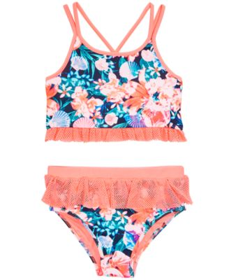 Little Girls 2-Pc. Floral-Print Tankini, Created for Macy'