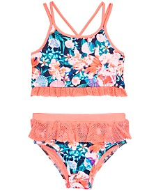 Ideology Toddler Girls 2-Pc. Floral-Print Tankini, Created for Macy'