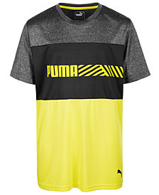 Puma Big Boys Colorblocked Logo T-Shirt