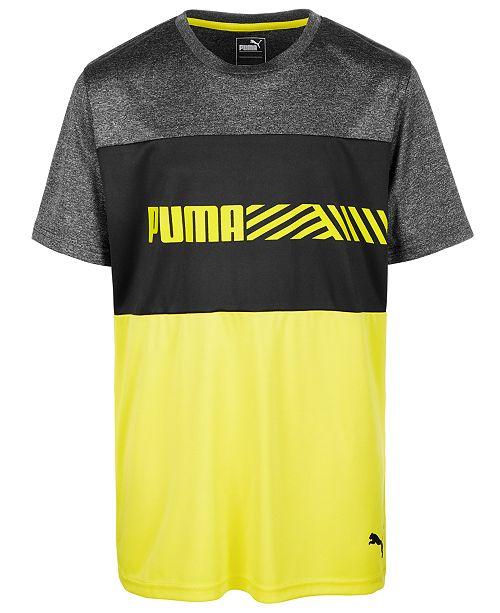 Puma Big Boys Colorblocked Logo T-Shirt