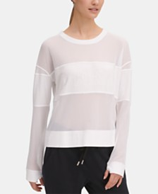 DKNY Sport Mesh-Blocked Top