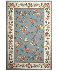 "KAS Colonial Floral 2'6"" x 4'6"" Oval Area Rug"