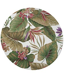 """KAS Colonial Tropical Paradise 1737 Ivory 7'6"""" Round Area Rug"""