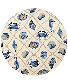 "Harbor Seaside 7'6"" Indoor/Outdoor Round Area Rug"