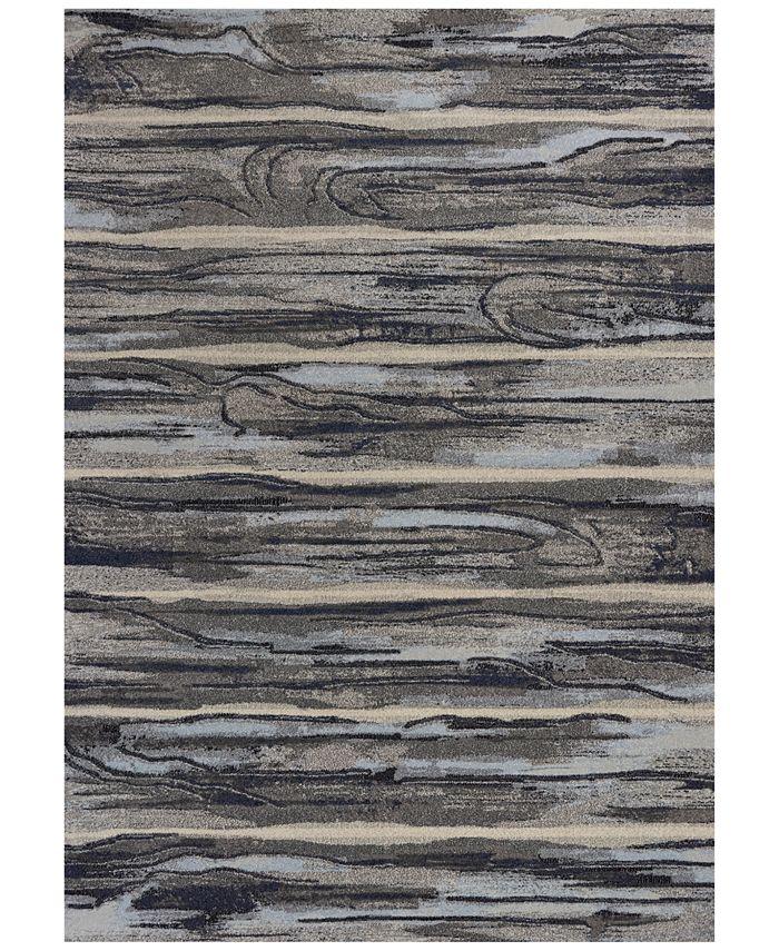 "Kas - Illusions Landscape 6210 Gray 6'7"" x 9'6"" Area Rug"