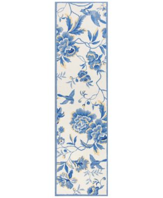 """CLOSEOUT! Sonesta Provence 2032 Ivory/Blue 2' x 7'6"""" Runner Area Rug"""