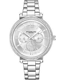 Stuhrling Original Women's Multi-Function, Silver Case and Bracelet, Silver Dial Watch