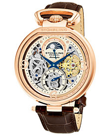 Stuhrling Original Men's Automatic Dual Time Watch