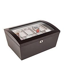 Mele & Co. Royce Locking Glass Top Wooden Watch Box
