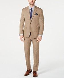 Lauren Ralph Lauren Men's Classic-Fit UltraFlex Stretch Light Brown Textured Suit Separates