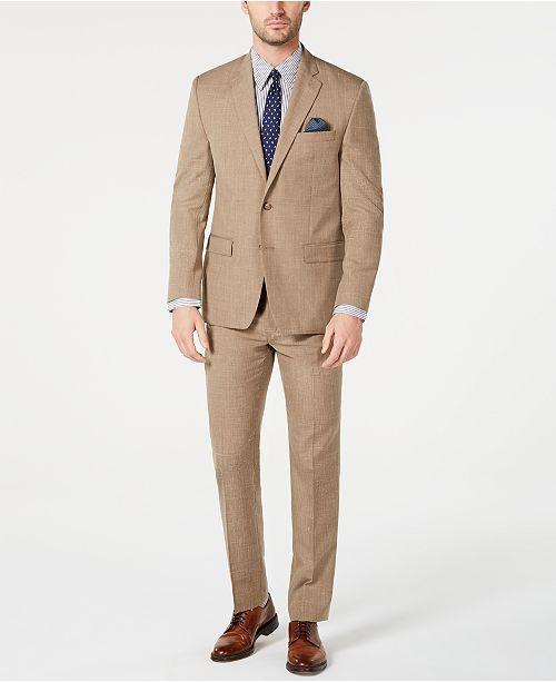 Lauren Ralph Lauren Men's Classic-Fit UltraFlex Stretch Light Brown Textured Suit Separates