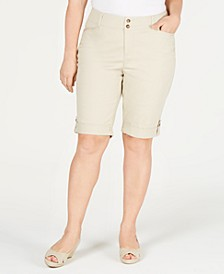 Plus Size Cuffed Chino Shorts, Created for Macy's