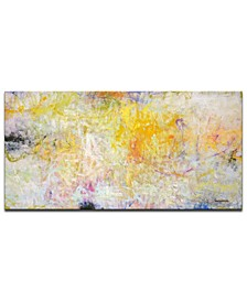 """'Satisfied' Abstract Canvas Wall Art - 30"""" x 60"""""""