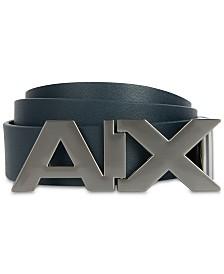 A|X Armani Exchange Men's Cutout Logo Buckle Belt