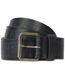 A|X Armani Exchange Men's Logo Embossed Leather Belt