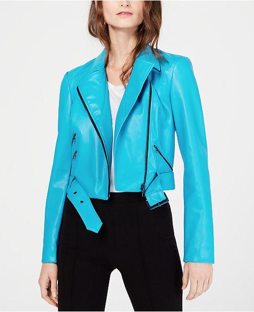 6c982739a86d ... INC International Concepts I.N.C. Contrast-Zip Faux-Leather Moto  Jacket