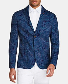 Tallia Men's Slim-Fit Stretch Paisley Blazer