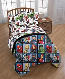 Marvel Marvel Team Twin Comforter
