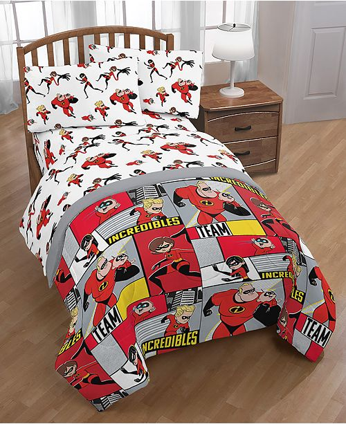 Disney The Incredibles 2 Super Family 4-Pc. Twin Bed in a Bag