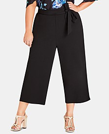 Trendy Plus Size Cropped Wide-Leg Pants
