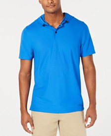 Club Room Men's Hooded Polo, Created for Macy's