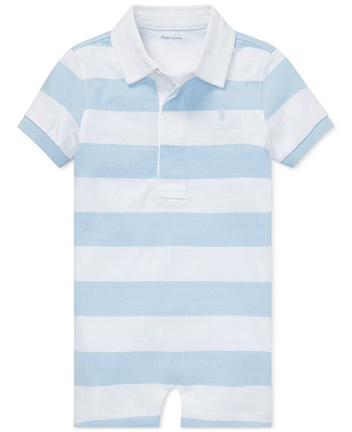 b0770ffd4 Polo Ralph Lauren Baby Boys Striped Cotton Rugby Shortall - All Baby ...