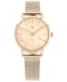 Women's  Rose Gold-Tone Mesh Bracelet Watch 30mm, Created for Macy's