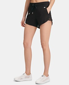 DKNY Sport Mesh-Inset Shorts, Created for Macy's