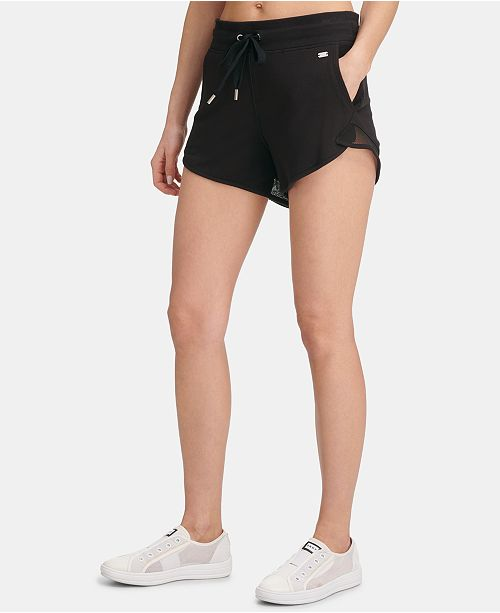 DKNY Sport Mesh-Inset Shorts