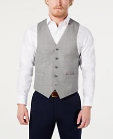 Michael Kors Men's Classic-Fit Airsoft Stretch Light Gray Suit Vest