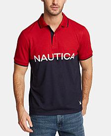 Nautica Men's Big & Tall Logo Graphic Polo, Created for Macy's