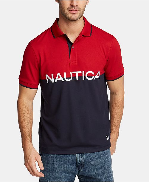 Nautica Nautica Men's Big & Tall Logo Graphic Polo, Created for Macy's